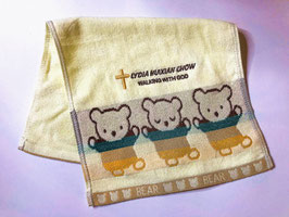 Little Bear Fashion Soft  Cotton Embroidery  Bath Towel 19.5 * 11 inches( Yellow ) 小熊时尚柔软纯棉刺绣浴巾 19.5* 11英寸(黄色)