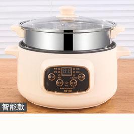 110V美规电炒锅多功能电热锅电火锅小电锅电煮锅蒸煮锅