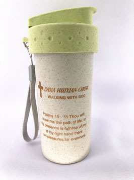 Wheat Straw Wheat Scented Fiber 300ml Cup (Green) 小麦秸秆麦香纤维 300ml 杯(绿色)