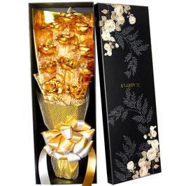cf008 - 520情人节24K金箔玫瑰花束铂镀金送女友妈妈创意生日求婚礼物盒