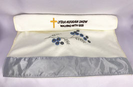 Microfiber Beach Hotel Bath Embroidered Flowe Quick-drying Super Absorbent Bath Towel 28 * 13 inches (Beige) 超细纤维沙滩巾酒店浴巾绣花花朵快干超吸水浴巾 28 * 13 inches (米色)