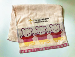 Little Bear Fashion Soft  Cotton Embroidery  Bath Towel 19.5 * 11 inches( Pink ) 小熊时尚柔软纯棉刺绣浴巾 19.5* 11英寸(粉色)