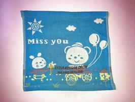 Three Layers Of Gauze Handkerchief 9.5 * 9.5 inches( Blue ) 三层纱布小方巾手帕 9.5* 9.5英寸(蓝色)