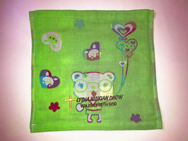 Three Layers Of Gauze Handkerchief 9.5 * 9.5 inches( Green ) 三层纱布小方巾手帕 9.5* 9.5英寸(绿色)