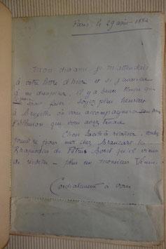 Laurent Tailhade, Au pays du Mufle, Léon Vanier, 1891, édition originale, lettre autographe signée à  Léo d'Orfer