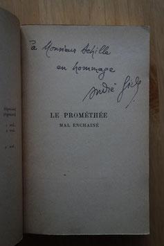 André GIDE, Le Prométhée mal enchaîné, Mercure de France, 1899, édition originale, envoi autographe signé