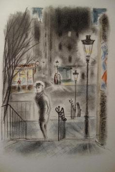 Roland Dorgelès, Promenades montmartroises, Trinckvel, 1960, illustrations de Dignimont, exemplaire sur grand vélin blanc