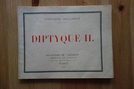 Stéphane Mallarmé, Diptyque II, Librairie de France, 1929, exemplaire sur Japon