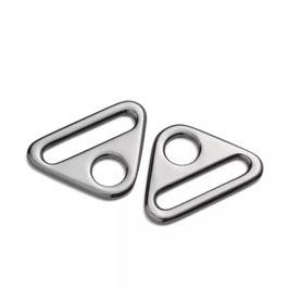 PRYM Triangel-Ringe mit Steg, 30mm, silberfarbig, 2 Stück pro Packung