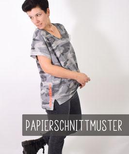 V-OVERSIZED.shirt, Papierschnittmuster, Größe 32 - 58, Shirt