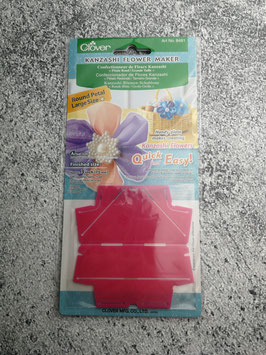 Clover Kanzashi Flower Maker, Kanzashi-Blume-Schablone, Runde Blüte, Große Blüte, Stoffblüte