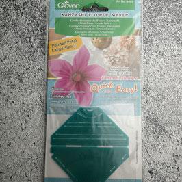 Clover Kanzashi Flower Maker, Kanzashi-Blume-Schablone, Spitze Blüte, Große Größe, Stoffblüte