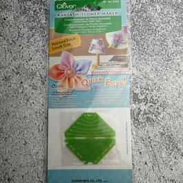 Clover Kanzashi Flower Maker, Kanzashi-Blume-Schablone, Spitze Blüte, Kleine Größe, Stoffblüte