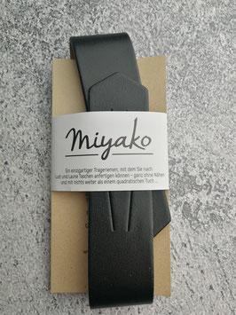 Miyako, Leder, Trageriemen, Schultergurt, Taschenriemen, Lederriemen, Ledertrageriemen, aus Frankreich, Neuheit, Farbe Schwarz