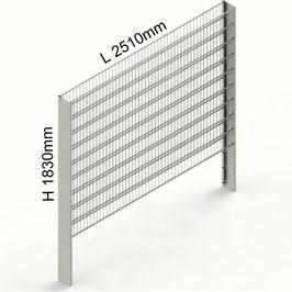 Gabionenzaun C-Line PREMIUM H 1830mm aus C-Profilen 194mm (zum Einbetonieren)