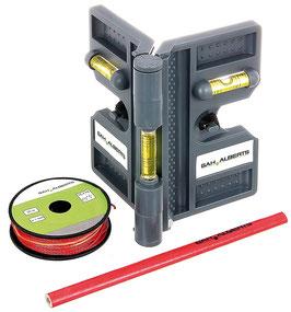 Montagehilfe SET für Zaunpfosten inkl. Wasserwaage & Richtschnur