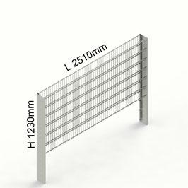 Gabionenzaun C-Line PREMIUM H 1230mm aus C-Profilen 194mm (zum Einbetonieren)
