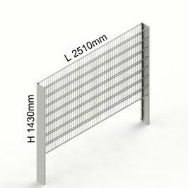 Gabionenzaun C-Line PREMIUM H 1430mm aus C-Profilen 194mm (zum Einbetonieren)