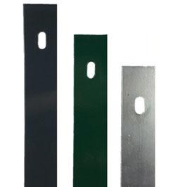 Flachabdeckleiste ZINK (Silbergrau) für Zaunpfosten 60x40mm