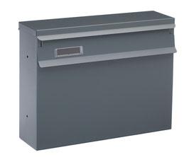 Zaun - Briefkasten SAALFELD - inkl. Halterung - RAL7016 matt