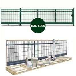 Freitragendes Schiebetor SOLID Slide-PST | Handbetrieb | RAL6005 moosgrün