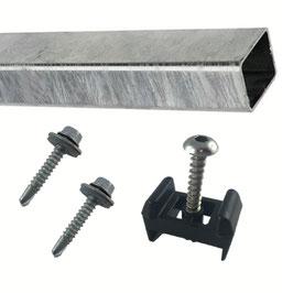 Pfostenverlängerungs-Set für Doppelstabmattenzaun Zaunpfosten