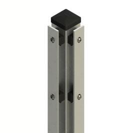 Eckpfosten Typ-AL ECK 60x60mm mit Abdeckleiste ZINK