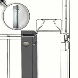 Universal Zaunanschlussleiste Typ-UL Feuerverzinkt-Silbergrau