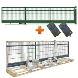 Freitragendes Schiebetor SOLID Slide-PST | E-Antrieb | RAL6005 moosgrün