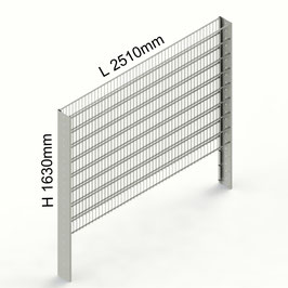 Gabionenzaun C-Line PREMIUM H 1630mm aus C-Profilen 194mm (zum Einbetonieren)