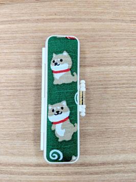 かわいい豆柴犬印セット / 緑