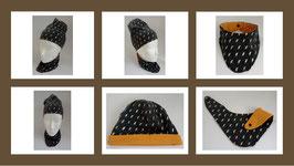 Mütze Silber Blitze