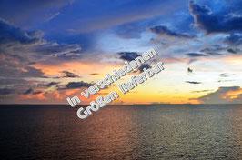 Sonnenuntergang Atlantik auf Leinwand