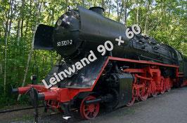 Dampflokomotive auf Leinwand 90 x 60