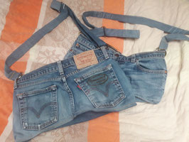 Handtasche Used Jeans