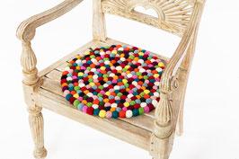 Sitzkissen rund und bunt
