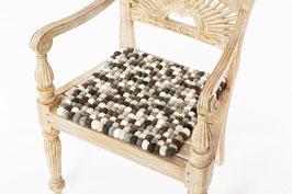 Sitzkissen quadratisch Grautöne