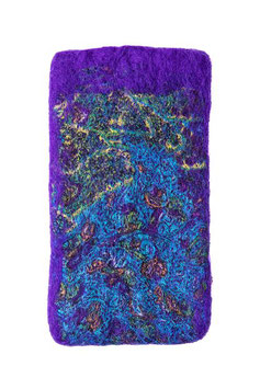 Handytasche aus Filz lila