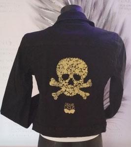 "Veste jean's motif ""Cadavre Exquis"""