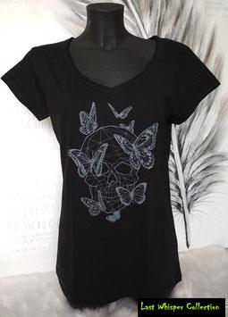 """Tshirt Blanc cassé motif """"Dble Papillon"""""""