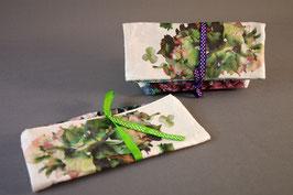 Pochette à trésor Hortensias multicolores lin