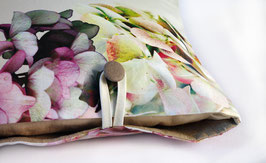 coussin petit  rectangle Hortensias