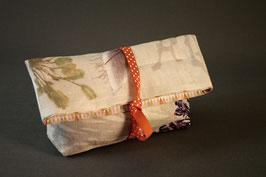 Pochette à trésor Herbacées et autres fleurs... lin