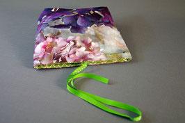 Pochette à trésor Hortensias violet lin
