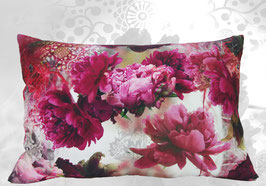 grand coussin rectangle pivoines indiennes