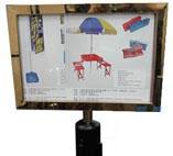 Infoständer A4 für Gurtleitsystem
