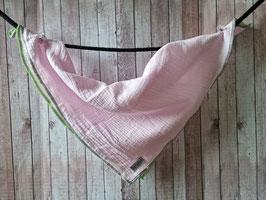 Nuscheli aus Musselin Stoff Uni rosa ca. 49x49cm