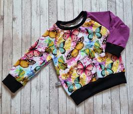 Pullover bunte Schmetterlinge 92