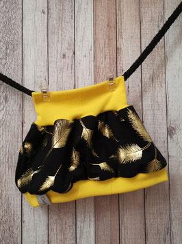 Ballonrock Federn gold glitzer / gelb 56