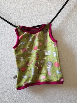 Träger Shirt  Mädchen mit Waldtiere 68